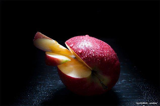 Rezept - Gebackene Apfelspalten auf Chardonnaysabayon